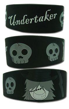 c332a9fd00b7 Wristband - Black Butler - New Undertaker PVC Toys Anime Gifts ge54023 Black  Butler Undertaker