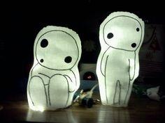Kodama Lights. So cute, but spooky!