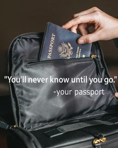 """There is a message from your passport.""""Be brave and take the road! Don't think about your travel budget just add your travel to GLOCALZONE to earn while traveling! Friday Facts, Wanderlust Travel, Budget Travel, Passport, Brave, Traveling By Yourself, Thinking Of You, Budgeting, Ads"""