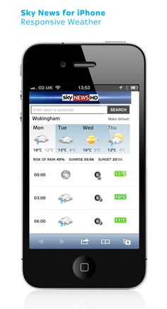 Sky News for iPhone: Responsive weather