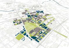 UNIVERSITY OF AKRON GUIDE PLAN    University of Akron, Akron, OH    Potential scenario for future campus development centered on renovation and partnerships