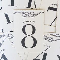 Nautical Knot Wedding Table Numbers by PattiMurphyBoutique on Etsy