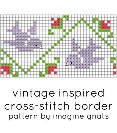 free pattern: vintage inspired cross-stitch border