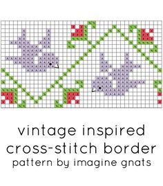 free pattern: vintage inspired cross-stitch border