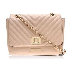 Smallish Nude Cross Body Bag with gold chain. Can be used as a clutch. (Already own)