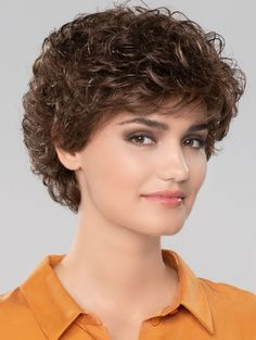 Get your favorite Curly Brown Short Gorgeous Classic Wigs at lowest price possible. New arrivals and trendy wigs.The most natural look & feel. It gives you realistic look from every angle. Short Grey Hair, Short Curly Bob, Short Hair Cuts, Short Curly Hairstyles For Women, Curly Bob Hairstyles, Curly Hair Tips, Curly Hair Styles, Mullet Hairstyle, Short Human Hair Wigs