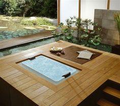 Feng Shui bambou salle de bains à remous usine