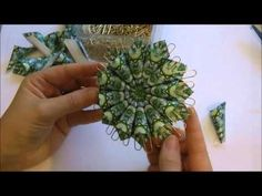 Flower Ornament Tutorial - Great Vid with VERY clear instructions! I will be making HEAPS of these in preparation for next Christmas!