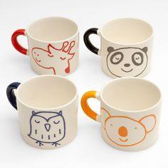 cute for kids' cups - pottery painting! Where Kids feels like adults & adults feel like kids