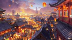 Fantasy Art Landscapes, Fantasy Landscape, Fantasy Artwork, Landscape Art, Fantasy City, Fantasy Places, Fantasy World, Anime Places, Japon Illustration