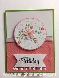 My Creative Corner!: Thoughtful Blooms, Here's a Card, Birthday Card, 2020 Stampin' Up! Sale-a-Bration Diy Birthday Invitations, Card Birthday, Handmade Birthday Cards, Creative Birthday Cards, Handmade Tags, Bloom, Stamping Up Cards, Flower Cards, Paper Flowers