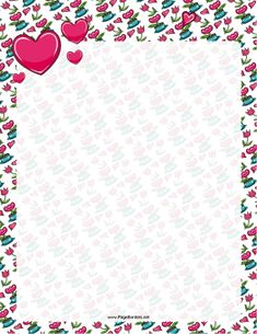 image about Valentine Borders Free Printable identify straightforward valentine centre borders. this cute free of charge printable