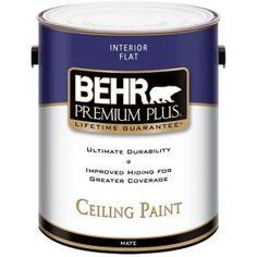 BEHR Premium Plus 1-gal. Flat Interior Ceiling Paint-55801 at The Home Depot