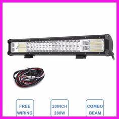 "20"" Tri-Row LED Light Bar Combo 288W LED Work Lamp 12V 24V Truck Trailer Camper 4x4 4WD SUV ATV Wagon Pickup Driving Headlight"