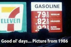1986 Gas Prices