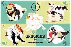 COM: Griphon batch by 11monsters.deviantart.com on @DeviantArt