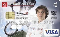 Envie d'avoir une carte bancaire à l'effigie de Laëtitia Le Corguillé ? Rendez-vous sur www.caisse-epargne.fr/EspritJO pour la commander ou adressez-vous directement à votre conseiller !