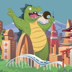 Dino Karaoke #supertics Ilustraciones para niños
