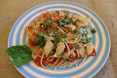 Skinny Tomato Basil Pasta