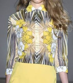 patternprints journal: PRINTS, PATTERNS AND SURFACES FROM NEW YORK FASHION WEEK (WOMAN COLLECTIONS SPRING/SUMMER 2015) / Jenny Packham