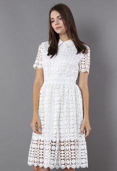 Splendid Crochet White Dress - New Arrivals - Retro, Indie and Unique Fashion