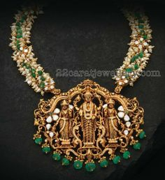 Temple Jewellery latest jewelry designs - Page 2 of 127 - Indian Jewellery Designs Emerald Jewelry, Gold Jewelry, Beaded Jewelry, Jewelery, Quartz Jewelry, Diamond Jewellery, Gold Necklace, Pearl Necklaces, Jewelry Dish