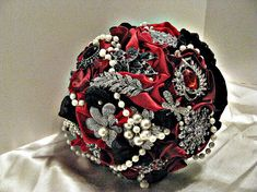 Hey, I found this really awesome Etsy listing at http://www.etsy.com/listing/124465495/redblack-brooch-wedding-bouquet-brooch
