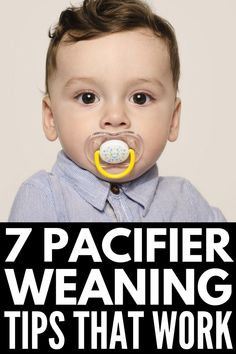 How to Get Rid of the Pacifier | Getting children to give up their beloved pacifiers can feel like an impossible task. While a paci can be very helpful in getting a baby to calm down quickly – and it can help prevent SIDS – there is no benefit to toddlers and older kids continuing to use their pacifier. In fact, it can be quite damaging to their teeth! If you want to say 'bye bye' once and for all, we're sharing 7 tips that help! #getridofpacifier #pacifierweaning #pacifierweaningtips Parenting Courses, Parenting Hacks, Pacifier Weaning, Break A Habit, Young Baby, Positive Discipline, Pacifiers, Craft Activities For Kids, Bye Bye