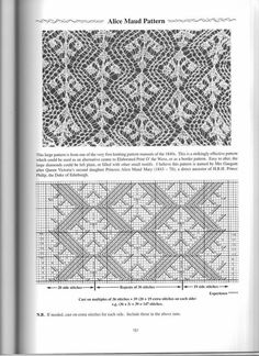 """Photo from album """"Heirloom Knitting by S.Miller"""" on Yandex. Lace Knitting Stitches, Lace Knitting Patterns, Cable Knitting, Knitting Books, Knitting Charts, Lace Patterns, Knitting Designs, Stitch Patterns, Tricot D'art"""