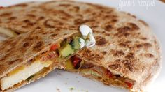 Quesadillas (add some or all: broccoli, mushroom, spinach, baby kale ...