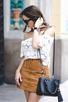 Suede Skirt Off Shoulder Lace Top  # #Nany's Klozet #Summer Trends #Fashionistas #Best Of Summer Apparel #Off Shoulder Lace Top Suede Skirt #Suede Skirt Off Shoulder Lace Top Must-Have #Suede Skirt Off Shoulder Lace Top 2015 #Suede Skirt Off Shoulder Lace Top Where To Get #Suede Skirt Off Shoulder Lace Top How To Style