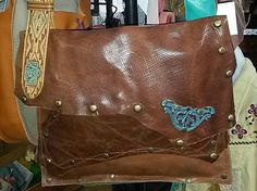 Handcrafted Leather BOHO Indie Messenger by WhiteBuffaloCreation