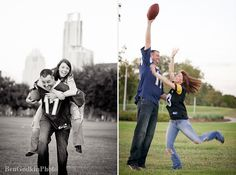 football inspired engagement photos
