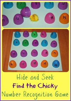 Find the Chick Easter 1-20 Number Recognition Game Egg Activity