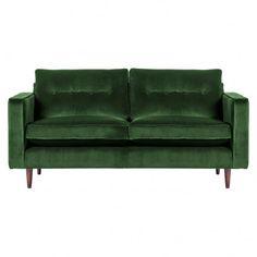 Cooper Two Seat Sofa Velvet Spruce