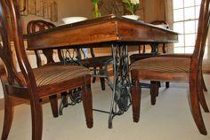 Image result for antique singer dining table
