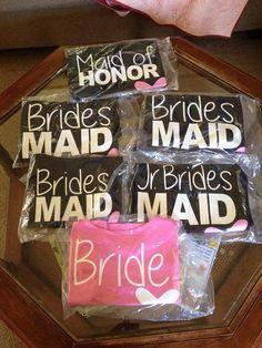 FREE SHIPPING, DIY Bridal Party Shirt Vinyl Transfers, Bride Transfer, shirt iron on bride by PeaceLovebyBetty on Etsy