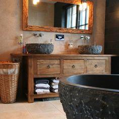 bagni con lavabo in pietra - Cerca con Google