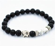Women Men Bracelet Elephant Elastic Beaded Bracelet Tibet Charm Bracelets