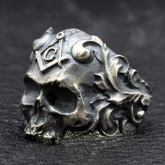 View all of our quality boutique sterling silver mens jewelry including rings, necklaces, pendants, chains & more. Mens Silver Jewelry, Silver Skull Ring, Sterling Silver Jewelry, Skull Rings, 925 Silver, Men's Jewelry Rings, Jewlery, Rings For Men, Freemason