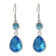 DangdangBling Womens Teardrop Earrings Color Blue -- Check this awesome product by going to the link at the image.