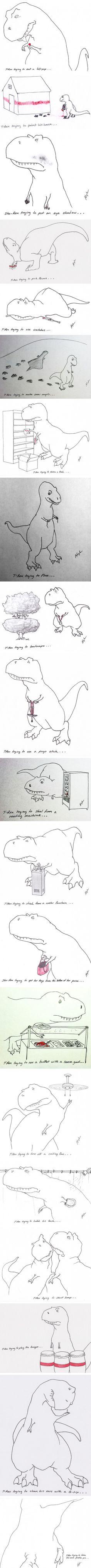 T-Rex Failing at Life