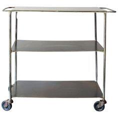 Vintage Industrial Cart | From a unique collection of antique and modern dry bars at http://www.1stdibs.com/furniture/storage-case-pieces/dry-bars/
