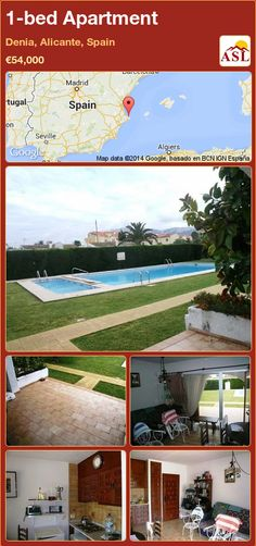 1-bed Apartment in Denia, Alicante, Spain ►€54,000 #PropertyForSaleInSpain