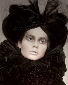 Elizabethan style couture, hair and makeup ~ Makeup artist Emma Reed