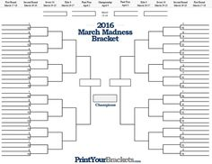 March Madness Bracket creator