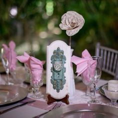 Vintage Door Knob Table Numbers For Wedding