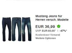 """Mustang: Jeans für 36,99 Euro frei Haus via Ebay http://www.discountfan.de/artikel/klamotten_&_schuhe/mustang-jeans-fuer-37-euro.php Als """"Wow! des Tages"""" sind heute bei Ebay Mustang-Jeans in zahlreichen Größen und drei Farben für je 36,99 Euro frei Haus zu haben. Die Offerte läuft bis Mittwoch mittag, solange Vorrat reicht. Mustang: Jeans für 36,99 Euro frei Haus (Bild: Ebay.de) Die Mustang-Jeans für 36,99 Euro fre... #Hosen, #Jeans"""