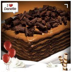 Danette'li çikolatalı pasta