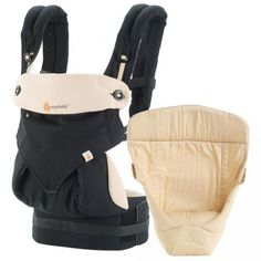 Four Position 360 Baby Carrier - Bundle of Joy with Easy Snug Infant Insert - Black / Camel